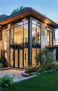 Modern Houses with Glass Windows