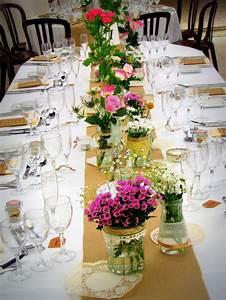 Table Mariage Champetre : ma d coration table mariage champ tre r tro vintage ~ Melissatoandfro.com Idées de Décoration