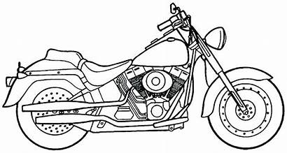 Harley Coloring Pages Motorcycle Printable Davidson Colouring