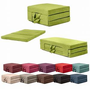 Fold out guest mattress foam bed single double sizes for Fold away sofa bed