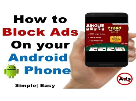 how to remove ads from your android phone no app