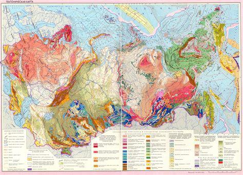 Тектоническая карта СССР 1:16 000 000   Геологический портал GeoKniga