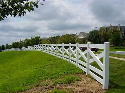 Estate Paddock Fence Fencing Vinyl Installation