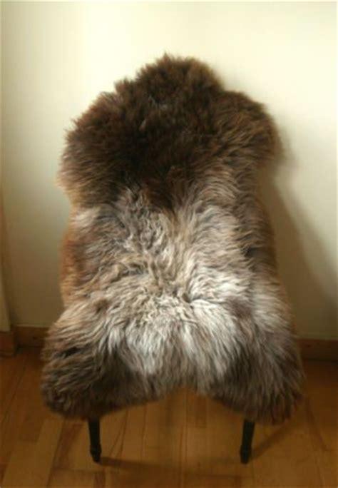 7 x 9 rug large genuine brown taupe grey skin sheepskin