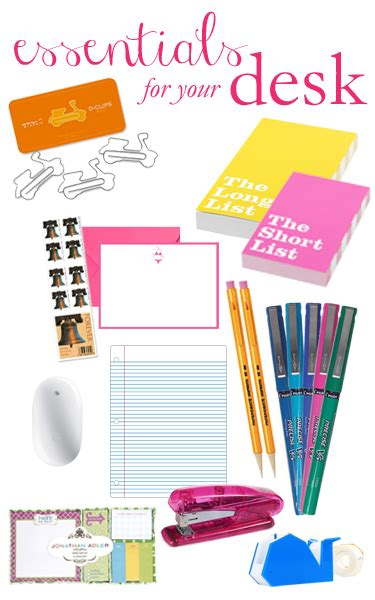 Office Supplies Essentials by Essentials For Your Desk The College Prepster