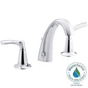 kohler mistos widespread bathroom faucet in chrome finish