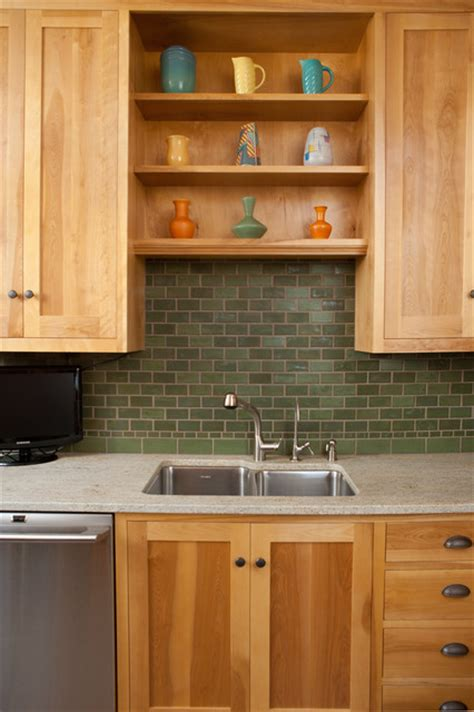 colors of kitchens arts and crafts monochromatic pesto matte green kitchen 2363