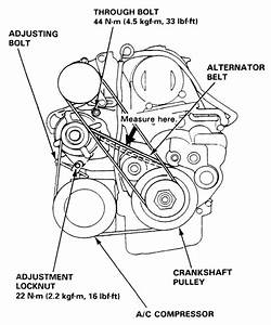 2003 Honda Crv Serpentine Belt Diagram