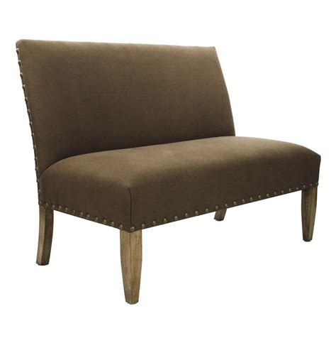 brown settee country cottage brown suede banquette dining settee