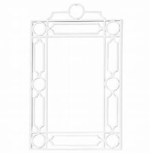 Brando hollywood regency white trellis wall mirror