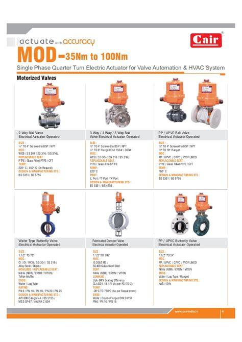 electric actuator valve der technical catalog pdf