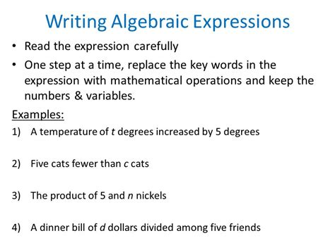 Evaluating Algebraic Equations  Ppt Video Online Download
