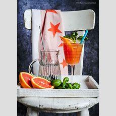 Blutorangen Basilikum Mocktail Ein Spritziger Cocktail