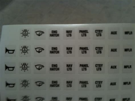 Marine Switch Panel Labels by Where Do I Get Dash Rocker Switch Covers With Labeling On