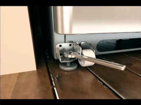 align level doors  french door refrigerator   adjustable rollers youtube