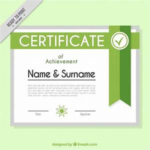 Microsoft Word Complaint Template Green Certificate Design Vector Free Download