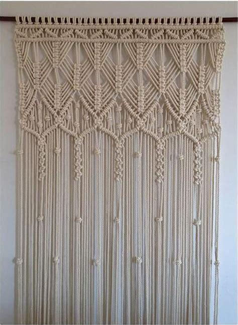 macrame curtain craft projects   fan