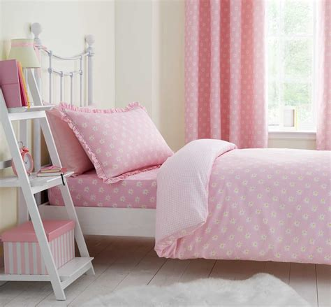 Girls Pink Floral Daisy Dreamer Duvet Cover Set Or Fitted