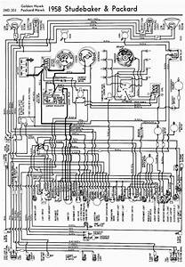1958 Studebaker And Packard Golden Hawk And Packard Hawk Wiring Diagram