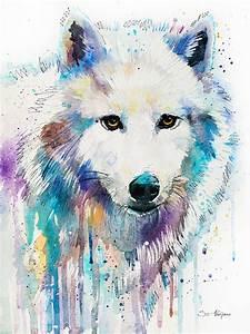 Arctic Wolf Painting by Slavi Aladjova