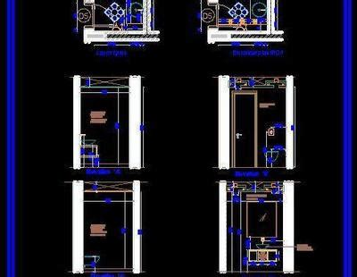 powder room design autocad dwg plan  design