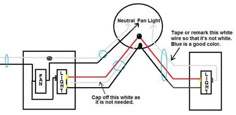 Ceiling Fan Way Light Single Switch Existing
