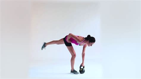 exercises deadlift leg single kettlebell glute