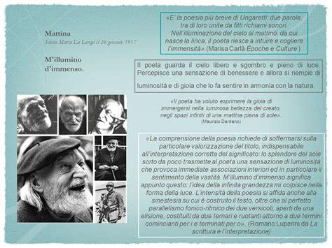 M Illumino D Immenso Quasimodo by Giuseppe Ungaretti Il Poeta Soldato Cosa Ricordare