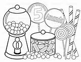 Candy Sweet Printable Coloring Sheet Shoppe Personalized sketch template