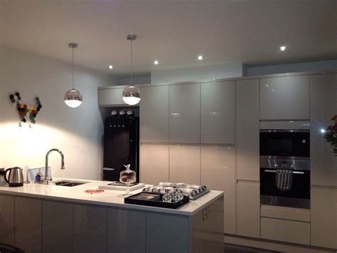 Love this Grey kitchen from Wren, it's Cashmere high gloss