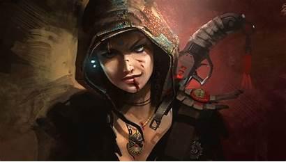 Fantasy Warrior Female Wallpapers Desktop Warriors Hunter