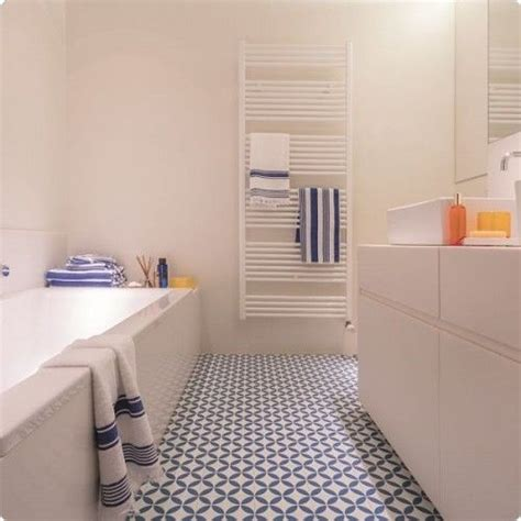 Floor Lino Bathroom by Kensington Ceramic Tile Effect Cushioned