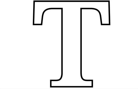 Letter T Free Alphabet Coloring Page
