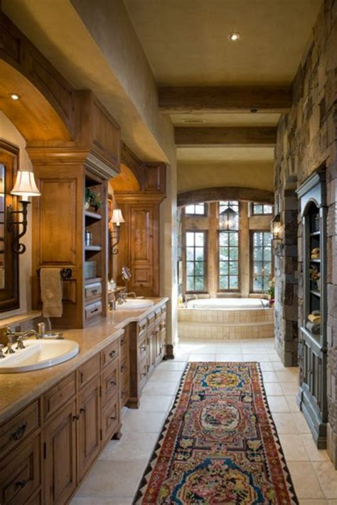 salle de bain rustique on vous pr 233 sente le tapis de salle de bain en 45 images