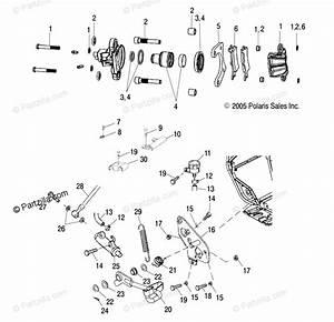 Polaris Atv 2005 Oem Parts Diagram For Rear Brake   Ab  Ac
