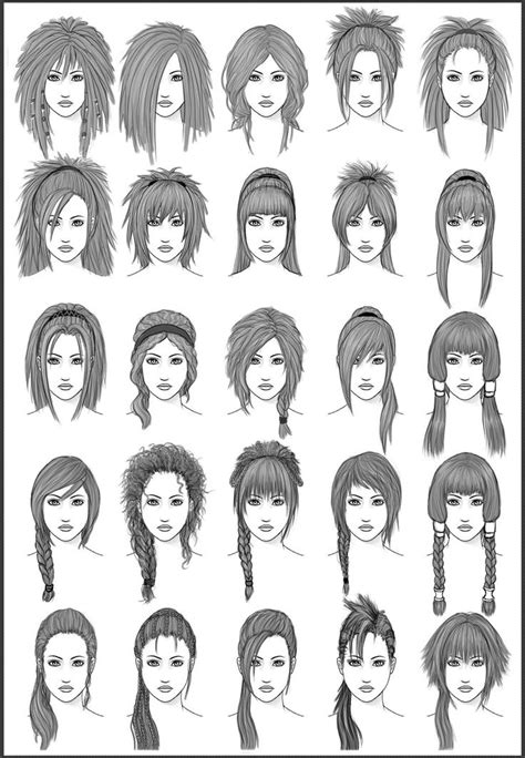 156 best Drawing Hairstyles images on Pinterest
