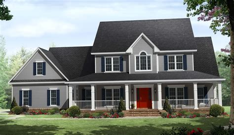 one story house plans with porch one story country house plans