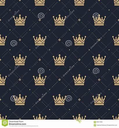Crown Pattern Retro Brown Patroon Een Fills