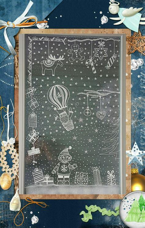 Weihnachtsdeko Fenster Kreidemarker by Winterdekoration Am Fenster Mit Chalk Pen Vorlage Aus