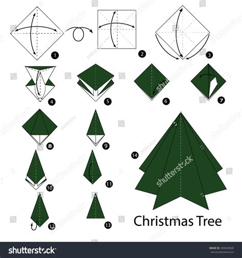 origami christmas tree instructions christmas lights