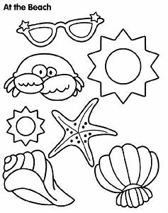 Sun and Sand Coloring Page | crayola.com