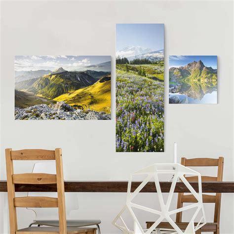 wandbilder 3 teilig wandbilder mehrteilig blumen wohndesign ideen
