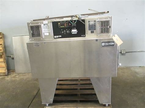 doyon fce electric conveyor pizza  oven baking jet air missing conveyor