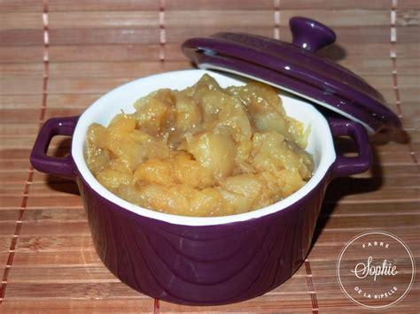 cuisine au gingembre compote de pommes au gingembre confit la tendresse en