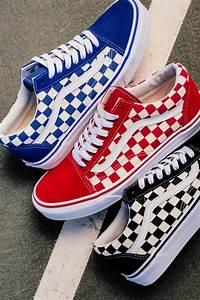 Buy red vans old skool checkerboardoutfits with all white vans