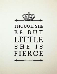 Shakespeare Quote Girl's Room Art //Unique Baby by ...