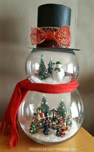Decorating Santa Hat Ideas by Fish Bowl Snowman Craft Crafty Morning