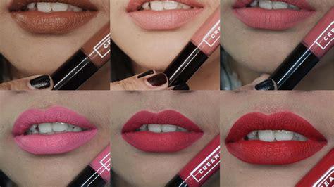 emina lipcream emina matte all shades lip swatches review jihan
