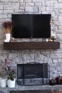 Build A Fireplace Mantel Shelf by How To Make A Wood Mantel Shelf For A Stone Fireplace