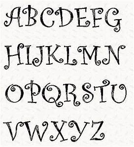 Alphabet curlz font 3 inch stencil wood burning for Font templates to print